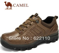 freeshipping CAMEL Men's daily walking sneaker ;genuine leather shoes for lacing-up style ;comfortable for a whole day