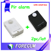 Wireless PIR Sensor Motion Detector GSM Alarm System Alert Monitor Remote Control - Black and White