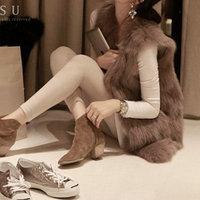 Hot! 2013 NEW Quality winter fox fur outerwear vest waistcoat fur big women's  921