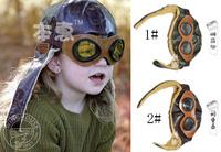 2013 New Retail Baby Winter Hats Leather Children Pilot Hat/Caps boys flight caps kids Warmer earflap beanie