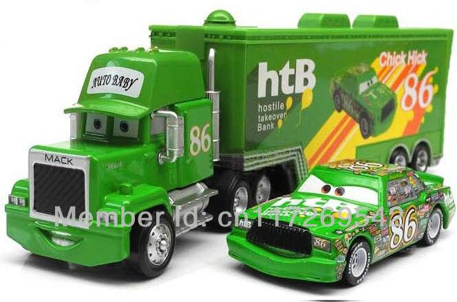 Pixar cars 2 Toys Diecast Metal MACK hauler MACK TRUCK + Chick Hicks Racing NO.86# Kids TOY(China