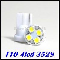 Whole Sale!!! car led auto led w5w 194 4SMD T10 4LED  smd 3528 1210  Wedge lamp Bulbs Car Side Indicator Light 100pcs/lot