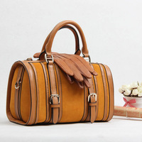 Genuine Leather Woman Messenger Bucket Bag Lady Patchwork Nubuck  Handbag Luxury Calfskin Large Cowhide Totes Free Shipping