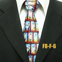 Men`s Festival Christmas Cartoon Santa Claus Neckties For Man Fashion Party Ties For Men Casual Poular Gravatas 8CM F8-F-6