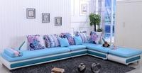 fashion sofa/modern sofa/colorful farbic sofa with stool