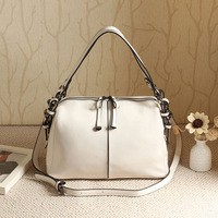 Genuine leather handbag cross-body women's dual-use handbag elegant simple bossdun the cowhide small bag chromophous formal ol