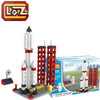 LOZ diamond blocks models toys educational enlighten bricks for children 8 years old free shipping  space rocket