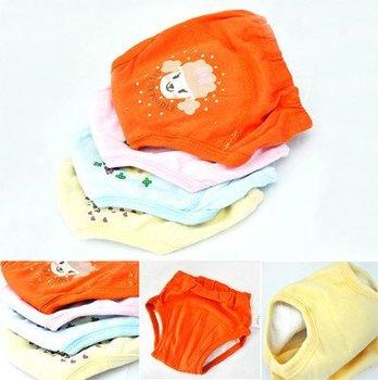 4 X Детские Малыш девушки милые 4 слоя водонепроницаемый брюки незначительное обучение многоразовые