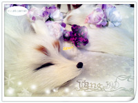White artificial fox artificial animal crafts 36