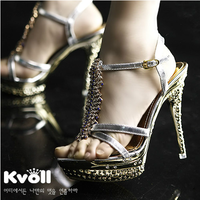 Kvoll sandals princess ultra high heels fashion platform rhinestone sandals