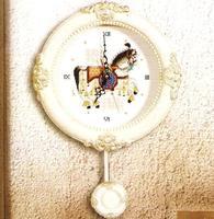 Free shipping DIY unfinished Cross Stitch kit animal  horse dmc  zb169 white clockers ZA-K428