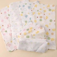 Baby supplies double layer cartoon gauze handkerchief baby face towel bath towel scarf