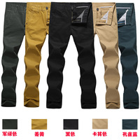 Free shipping, top quality casual pants Male slim casual pants men's clothing mid waist straight casual pants fashion