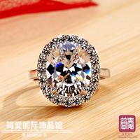 Stamped PT 950 pigeon egg jewelry 5 CT  ring  wedding ring female  high fashion original