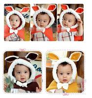 2013 cute baby rabbit pashmina hat cappa free shipping
