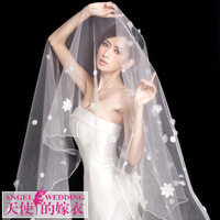 Cii wedding dress bridal veil wedding dress new Korean version of the multi-layer veil 3 meters long wedding dress accessories