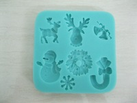 Free shipping 2013 New Arrival Christmas Series Cartoon Silicone fondant 3D cake tools mold , chocolate bakeware soap mold C125