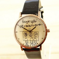 Watches Cartoon Cute Fashion TUZKI women's Watch Lovers Vintage Lady Free shipping Dropship Wholesale