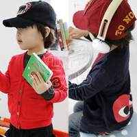 2013 autumn male girls clothing child fleece cardigan wt-0021