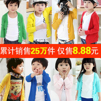 Autumn 2013 spring and autumn clothing boys girls child clothing outerwear cardigan sun protection clothing wt-0286