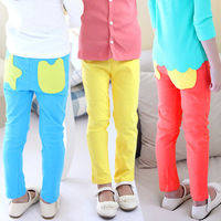 2013 autumn candy pocket girls clothing baby child long trousers pencil pants kz-2098
