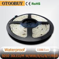 12V 5050 waterproof LED Strip Light 30LEDs/M 150M/lot for garden