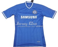 Free shipping 100% TECHFIT 2014 Chelsea soccer jerseys,Tight Player version Chelsea Football shirts home Blue