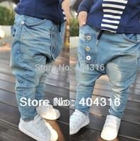free shipping Hot sale New arrive 5pcs/lot Baby Kids Clothing Children's pants Boy's Harem Pants PP jeans child pants trousers