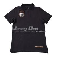 2014 Top grade quality Black Santos POLO jerseys,Free shipping Santos POLO shirts