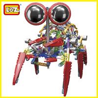 Loz Electric Robot  Building Blocks Sets Motor Plastic Robot Educational DIY Bricks Toys Children Christmas Gift  alien