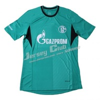2014 Schalke soccer jerseys,Free shipping Top thai Schalke football shirts away green embroidery Logo Fans Version