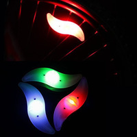 Bike Bicycle Lights  Wheels Steel Wire   Lamp Super Bright Waterproof LED Spoke Light  Lots of  3 Pcs