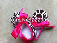 hot sale Cute Zebra Print Baby Crib Shoes