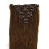 Clip hair extension hair piece virgin remy grade aaa  factory price free shipping