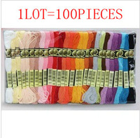 Topgrade 100PCS Embroidery Floss Free Shipping