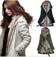 2013 women's trench thickening overcoat medium-long jacket outerwear wool Coat