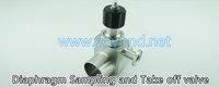 Stainless Steel Sanitary Valves Diaphragm Sampling and Take off valve