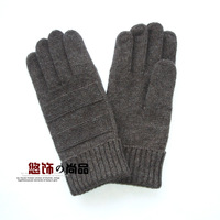 Free shipping 2013 fashion male winter pure wool gloves quality commercial yarn gloves