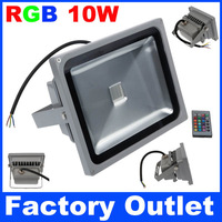 5pcs 30W LED Floodlight RGB Light  With 24Keys IR Remote For Home Garden Square Wall