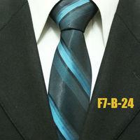 Man Fashion Gatsby Business Formal Green With Black Neckties For Men Striped Man Classic Groom Ties Gravatas F7-B-24 7CM