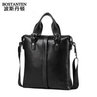 BOSTANTEN men's Cowhide bag handbag business genuine leather messenger bag briefcase b10382 5001