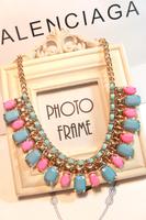 Bohemia necklace female short design multicolour candy color chain accessories necklace pendant