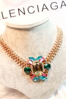 For nec  klace female short design fashion accessories chain multicolour gem women's decoration necklace