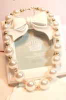 For dec  oration big pearl necklace female short design accessories necklace