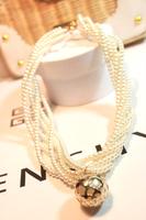 For nec  klace fashion female vintage multi-layer pearl necklace decoration accessories chain