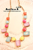 Multicolour necklace female short design clothes accessories necklace fashion decoration short necklace chain