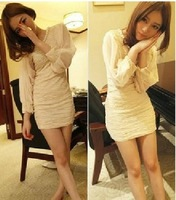 2013 female autumn ladies pearl fairy slim one-piece dress