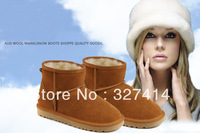 Australia Classic snow boots 5854 for women 2013 fashion ladies cheap winter boots leather woolen inside top quality for LOVINA