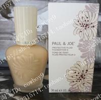 free shipping 2pcs For dec  onsolidator paul&joe enamel fresh pj refreshing sunscreen foundation liquid spf25pa 1ml