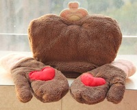 Love double lovers in hand gloves one piece plus cotton thickening winter gloves